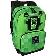Minecraft Creepy Creeper Kids Backpack (Green, 17