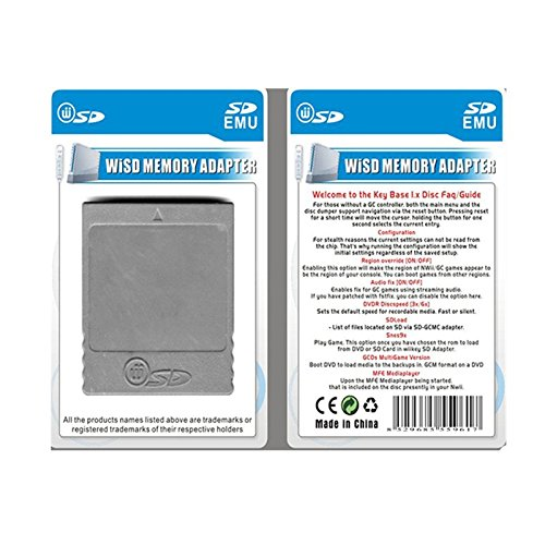SD Memory Card Stick Converter Adapter for Nintendo Wii Gamecube