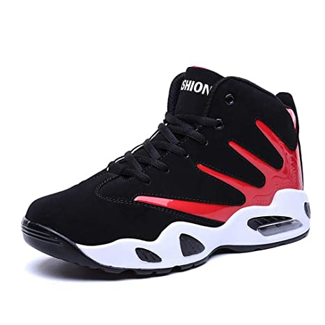 b2debad7ad465 Hy Botas de Baloncesto Altas para Hombre Primavera Otoño Zapatillas de Deporte  Transpirables para Correr