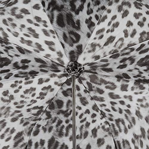 Pasotti Animalier Umbrella with Silver Skull Handle /& Double Cloth NEW