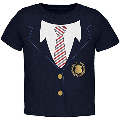 Halloween American School Girl Costume Toddler T Shirt Navy (Old Navy Baby Girl Halloween Costumes)
