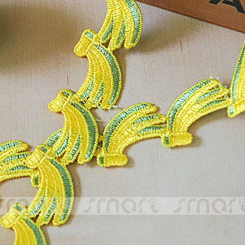 FidgetKute 2 Yards Embroidered Vintage Polyester Lace Trim Fruit Ribbon Sewing Craft 3.4cm Strawberry