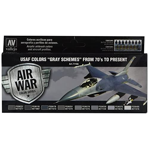 Acrylicos Vallejo USAF arrangements de gris à partir de 70's au Present modèle Air Ensemble