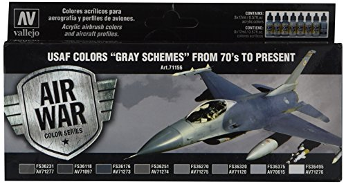 Paint Model Aircraft (Vallejo Usaf Colors 70S To Now Model, 17ml)