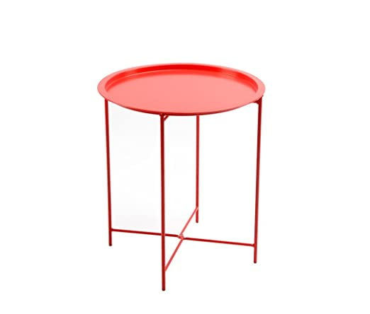 Good Amazon.com : Finnhomy Small Round Side End Table, Sofa Table, Tray Side  Table, Snack Table, Metal, Anti Rusty, Outdoor And Indoor Use For Putting  Small ...