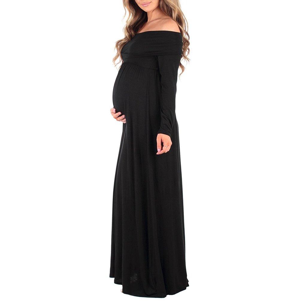WanYang Damen Fotoshooting Mutterschaft Party Kleid Sexy Langarm mit ...