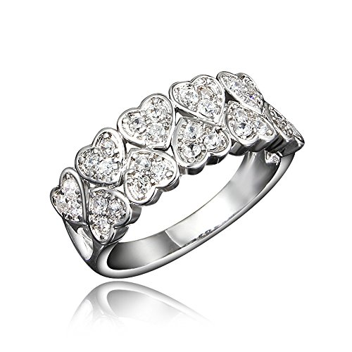 New Brand Jewelry Black Love Designs Wedding Engagement Ring by 17maimeng