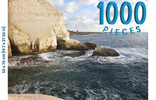 Panorama Landscape (1000 Piece Jigsaw Puzzle | Great GIFT! Scenic Panorama Rock At Israel's Head Mediterranean Sea Landscape | Gorgeous Picture of Nature: Ocean, Coast | Indoor Activity/Beautiful Home Décor/Wall Art)