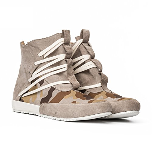 MCNDO Ninja Chaussures Homme Urbaines de Cuir (11, Sand Camouflaged)