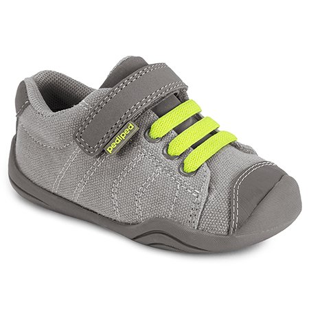 pediped Jake Grey/Lime (Infant/Toddler) Baby Shoe