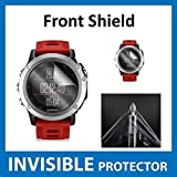 Garmin Fenix 3 GPS Watch Front INVISIBLE Screen Protector (Front Shield Included) - Military Grade Protection Exclusive to ACE CASE