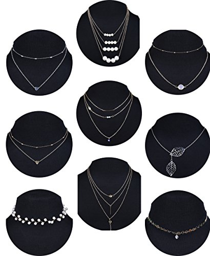 (Besteel 9 Pcs Layered Choker Necklace for Women Girls Boho Multilayer Pendant Necklace)