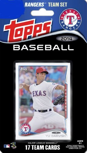 Texas Rangers Team Set - 2014 Topps Texas Rangers Factory Sealed Special Edition 17 Card Team Set with Yu Darvish, Prince Fielder Plus