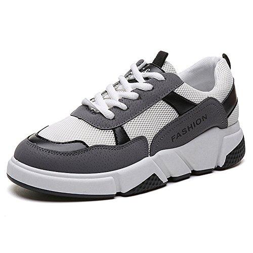 Cyber femmes Athlétique Sport Chaussures En Plein Air Plate-forme Exercice Sneaker Pour Courir Marchant Gris