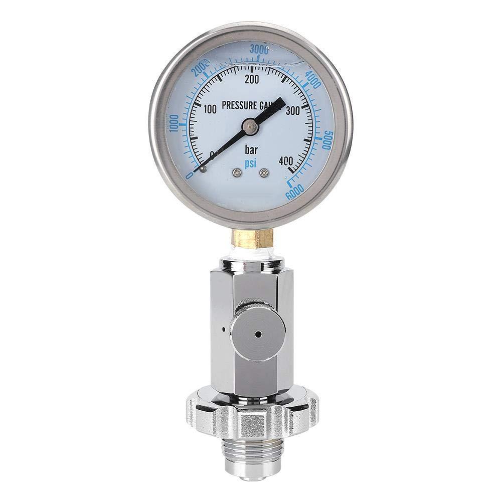 Alomejor Scuba Pressure Gauge Pressure Gauge DIN Pressure Gauge Accurate Submersible Dive Pressure Gauge Checker Tester for Scuba Diving for DIN Valve