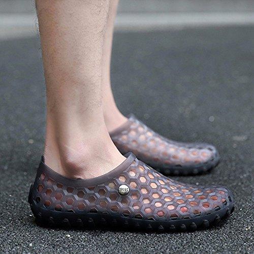 estate Il nuovo gioventù sandali tendenza Scarpe da foro Uomini Scarpe da spiaggia selvaggio personalità sandali ,grigio,US=7.5?UK=7,EU=40 2/3?CN=41