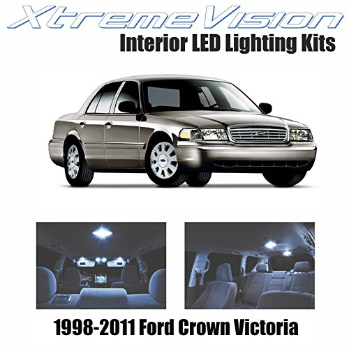 Crown Victoria Interior - XtremeVision Interior LED for Ford Crown Victoria 1998-2011 (10 Pieces) Cool White Interior LED Kit + Installation Tool