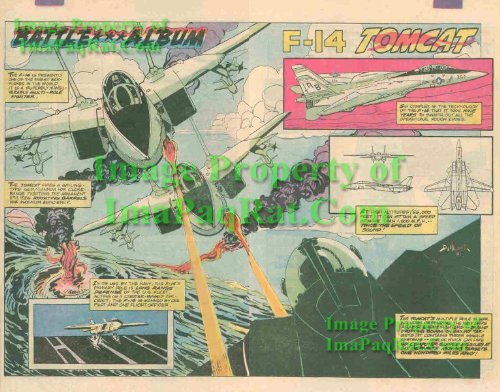 - Battle Album: Grumman Supersonic, F-14 Tomcat: Great Original 1983 Two Page Comic