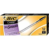 BIC Cristal Xtra Smooth Ball Pen, Medium Point (1.0 mm), Black, 12-Count