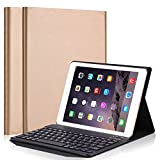 Hulorry iPad 9.7'' 2018 Keyboard Case, Smart Case with Detachable Wireless Bluetooth Keyboard PU Leather Folio Hard Back Cover Stand Case for Apple 2017&2018 New iPad/iPad Pro 9.7/iPad Air/Air 2