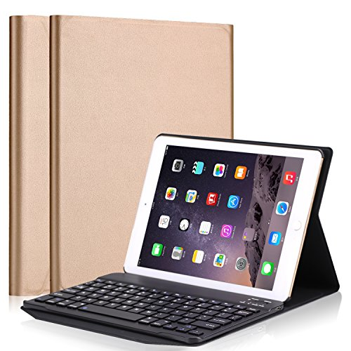 Businda 9.7 Inch Keyboard Case,Detachable Wireless Bluetooth Keyboard with PU Leather Smart Case Stand Folio Cover for Apple iPad Pro 9.7/2017New iPad / iPad Air /iPad Air 2