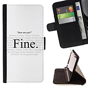 For Samsung Galaxy S3 Mini I8190Samsung Galaxy S3 Mini I8190 Alone Fine Hypocrisy How Are You Quote Style PU Leather Case Wallet Flip Stand Flap Closure Cover