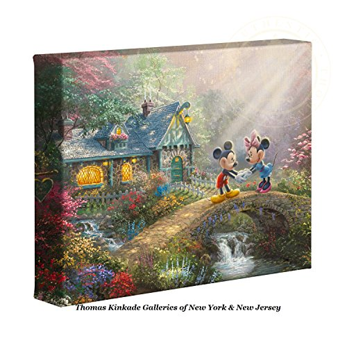 Thomas Kinkade Disney Mickey and Minnie Sweetheart Bridge -