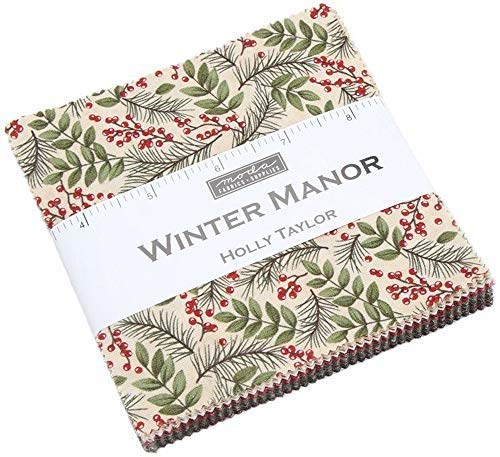 "Winter Manor Charm Pack by Holly Taylor; 42-5"" Precut Fabric Quilt Squares"