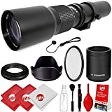 Opteka 500mm/1000mm f/8 Manual Telephoto Lens for Fuji X-Pro2, X-Pro1, X-T20, X-T10, X-A10, X-E2S, X-T2, X-T1, X-E2, X-E1, X-M1, X-A3, X-A2, and X-A1 X Mirrorless Digital Cameras