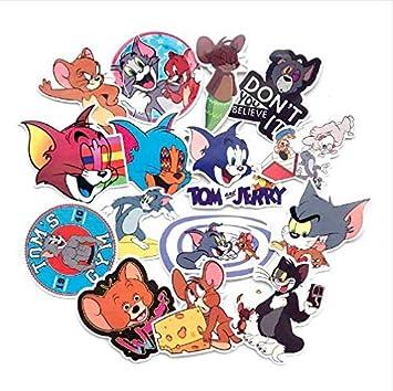 YLGG Tom Cat Jerry Mouse de Dibujos Animados Pegatinas de Coches ...