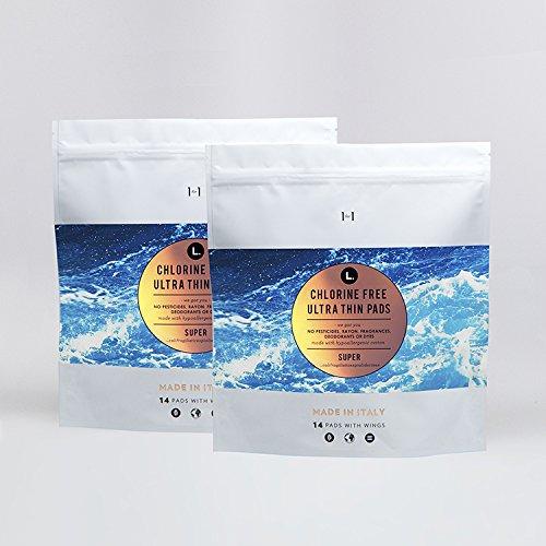 L Organic Pads >> L Organic Cotton Chlorine Free Ultra Thin Pads Super 28 Count