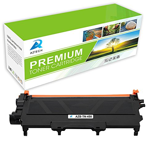 AZTECH 1 Pack 2,600 Pages Yield Black Compatible Toner Cartridge Replaces Brother TN450 TN 450 TN-450 Used For Brother HL-2280DW HL-2270DW HL-2240 HL-2240D MFC-7240 MFC-7860DW MFC-7460DN DCP-7065DN