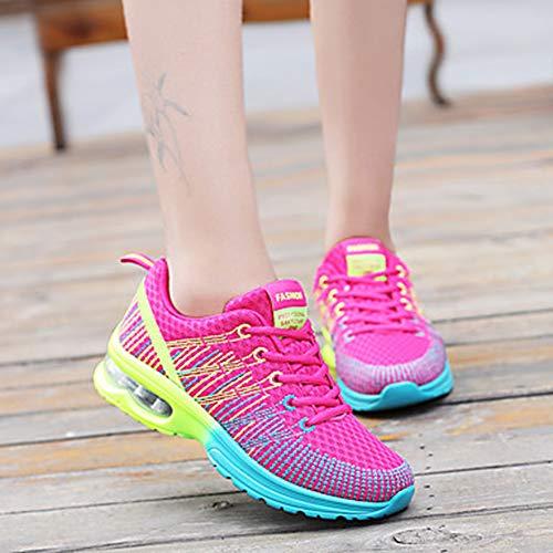 UK4 Lacet Chaussures EU36 Confort pour Plat Automne US6 D'athlétisme Femme Air Bout Polyuréthane Chaussures CN36 Rose TTSHOES Pink De Printemps Violet Plein Talon Rond YqB71w