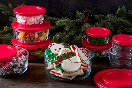 Pyrex Simply Store Glass Round Food Container Set (16-Piece)