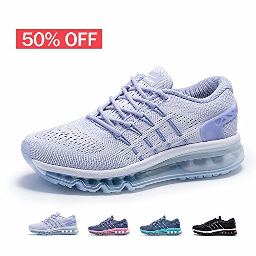 ONEMIX Womens Air Running Shoes,Sloping Tongue Sneakers,White,Size - Running Suit Speed