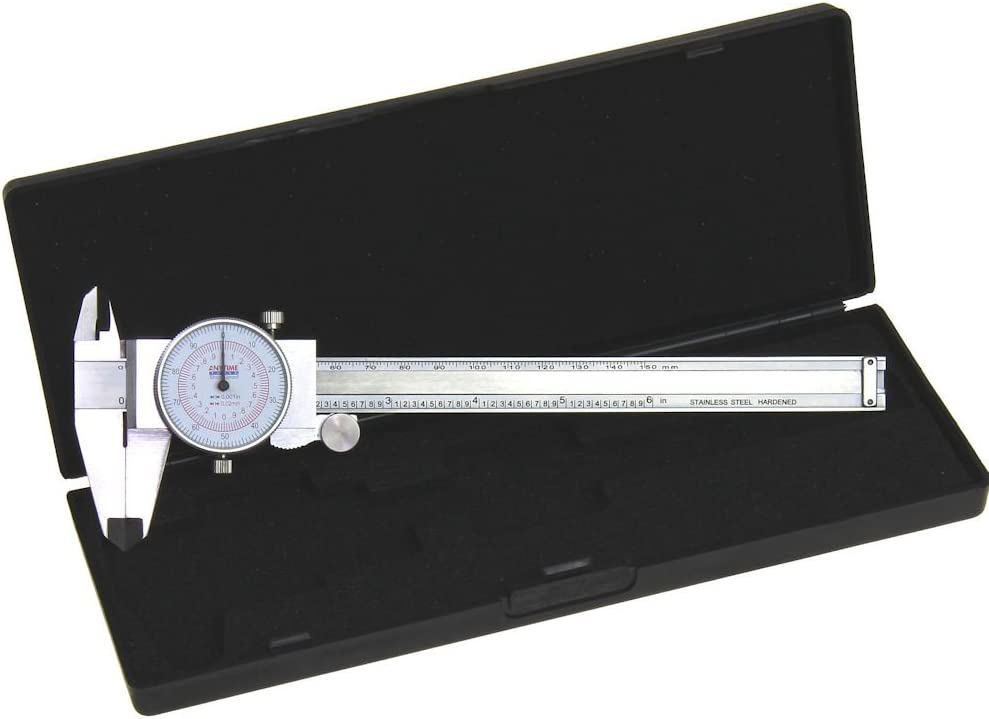 Dial Hand Tools Caliper 6/'/' 150MM Dual Reading Shockproof Scale Metric SAE