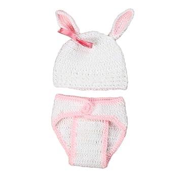 Amosfun Disfraz de Foto de bebé recién Nacido Conejito de Conejito ...
