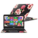 """MightySkins Protective Vinyl Skin Decal for Asus ZenBook Flip UX360CA 13.3"""" (2016) wrap cover sticker skins Hibiscus"""
