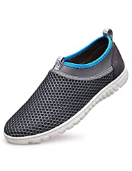 Men's Breathable Mesh Slip On Loafers Outdoor Sport Running Shoes,Beach Sneaker Work Shoe