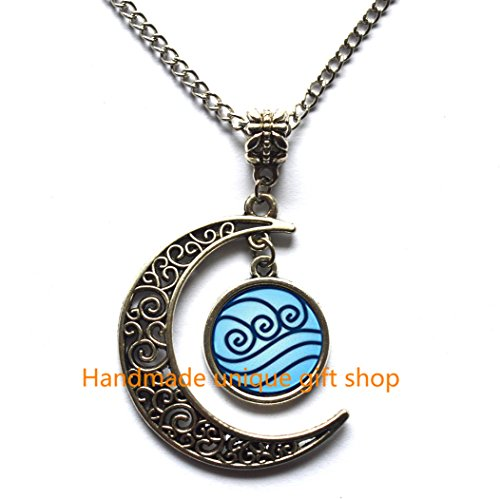 Modern Crescent Moon Necklace, Moon Necklace,Water Tribe Necklace Pendant Water Tribe Jewelry,Friends Gift -