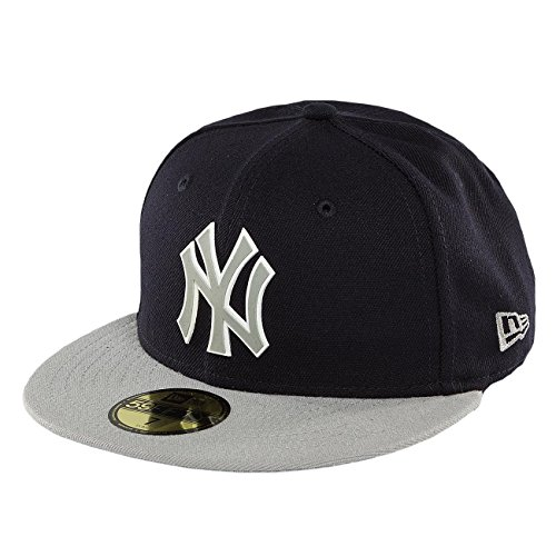 New Era Homme Casquettes / Fitted Team Rubber Logo NY Yankees