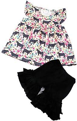 QLIyang Baby Girls Shorts Star Print Toddlers Ruffle Shorts