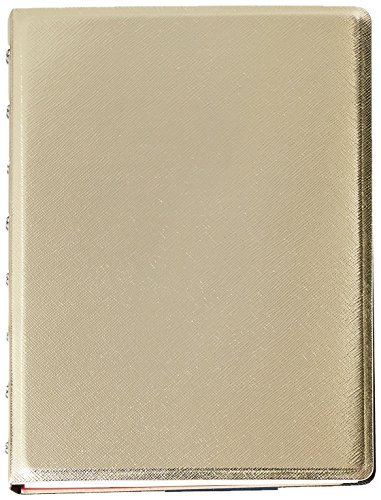 Filofax A5 Saffiano Notebook Gold, Cream Colored Paper, 112 Ruled Pages (B115036U)