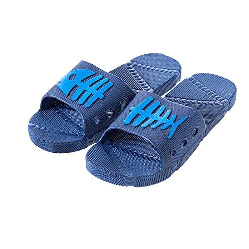 Salle Intérieur Cool D'Été Femmes Bleu 42 Bain Osseux Couples 43 Baignade De Et Poissons Pantoufles Chaussures En Anti Pantoufles Dérapant Plancher Foncé Hommes Plastique WEIAIXX wqtxInXRq