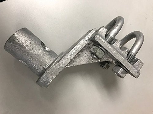 (10 Count) 180º Adapters for Industrial Chain Link Hinges Malleable Steel - Galvanized by FenceSmart4U
