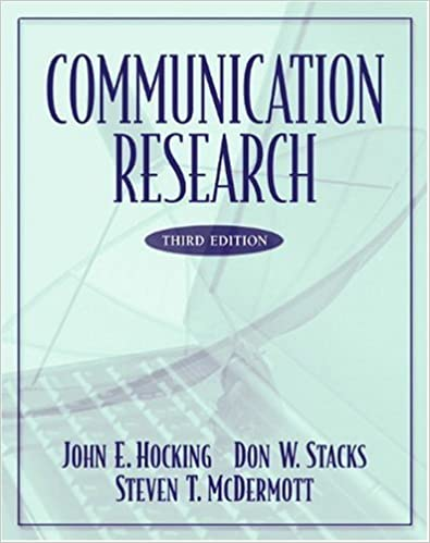 Communication Research 3rd Edition