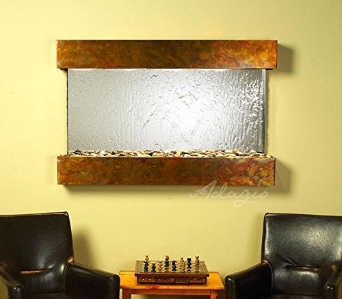 Adagio Sunrise Springs Wall Fountain Silver Mirror Stainless Steel - SSS2040