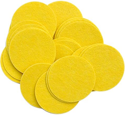 Playfully Ever After 3 Inch Yellow 30pc Felt Circle Stickers