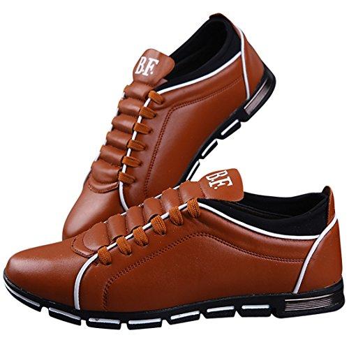 Scarpa Uomo in Pelle, Mocassini Uomo, Scarpa per Affari Elegante Punta di Piedi Oxfords Comfort Pelle Sintetica Vestito Scarpe Martin British Style Pelle Scarpa Giallo