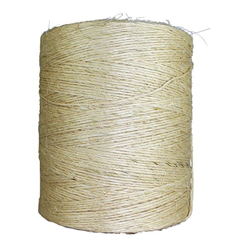 Sisal Twine - Unoiled Sisal Twine (100 ft) - SGT KNOTS - 100% Natural Fiber Twine - Food Safe Eco Friendly - Crafting, Growing Hops for Beer Brewing, Cucumber Twine, Agriculture, Farming